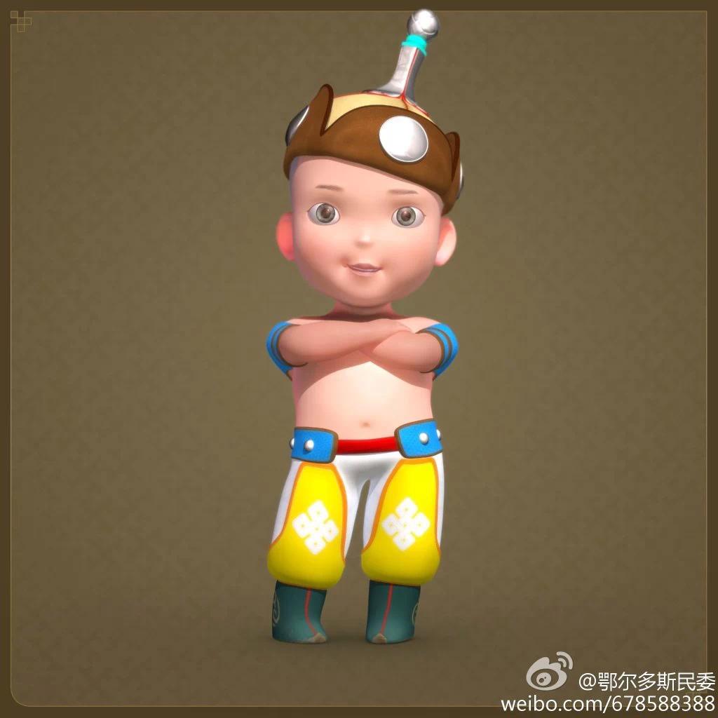 【民族卡通】超可爱的蒙古宝贝 —— 他叫ordos mongol boy 第1张