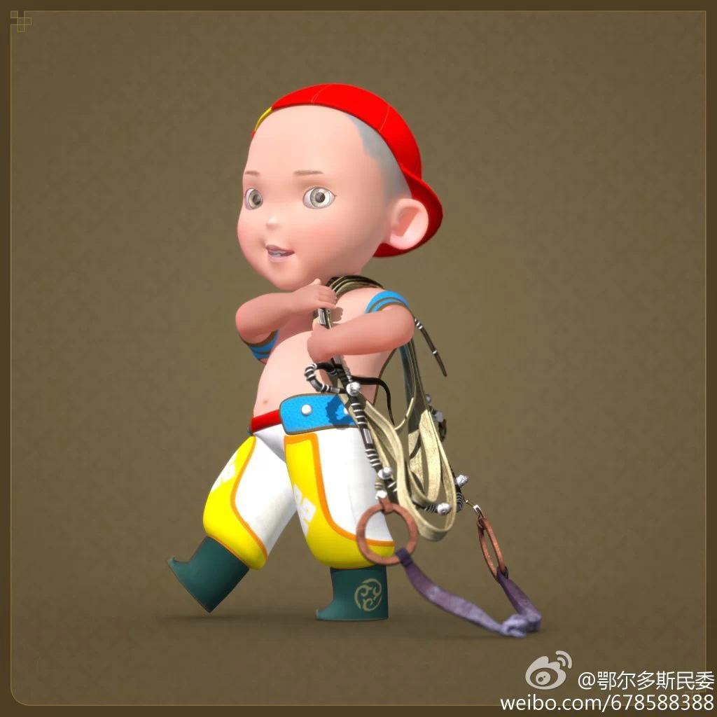 【民族卡通】超可爱的蒙古宝贝 —— 他叫ordos mongol boy 第2张