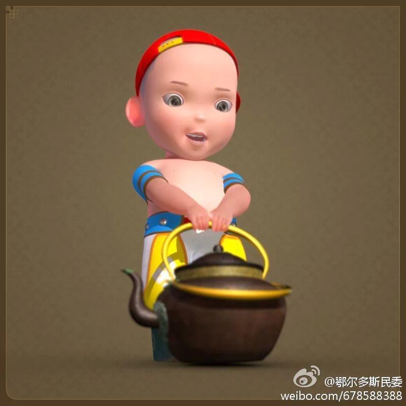 【民族卡通】超可爱的蒙古宝贝 —— 他叫ordos mongol boy 第9张