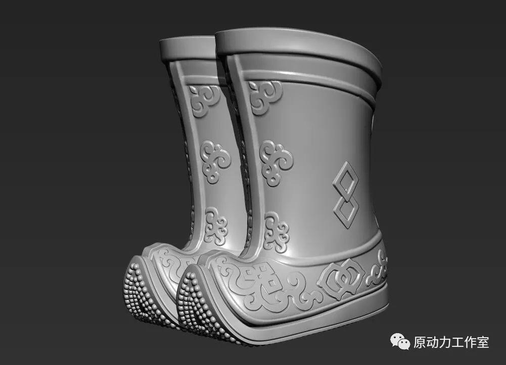 模型中级篇01—蒙古长靴