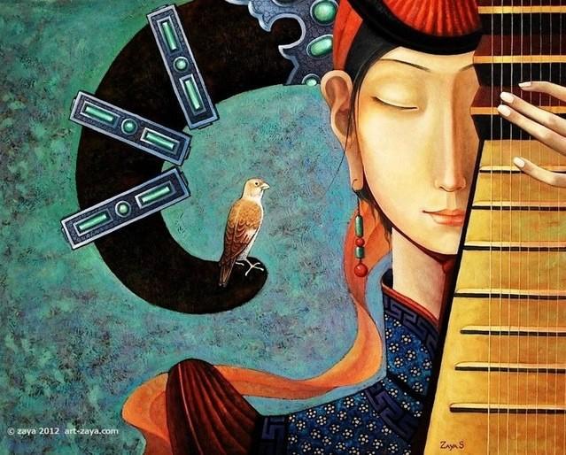 ®◆节日欣赏,画中的女人 — 蒙古画家Zayasaikhan Sambuu的作品 第1张
