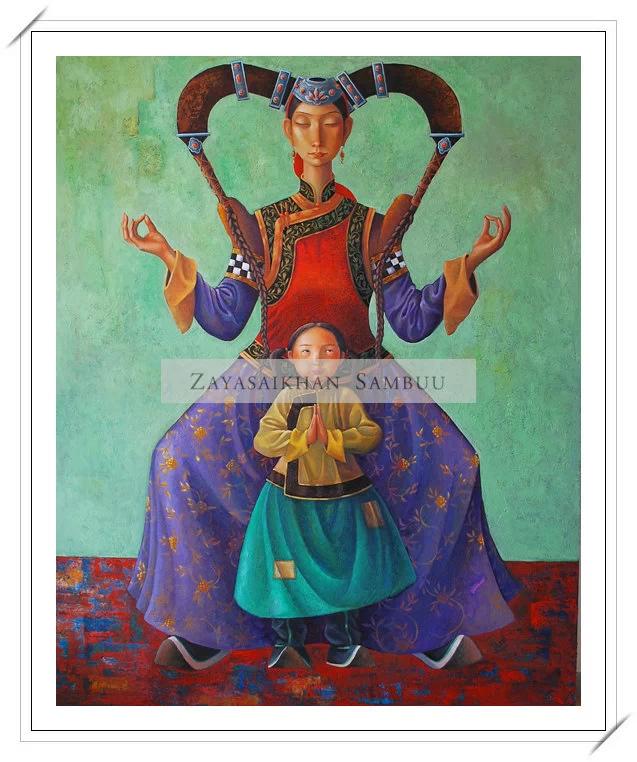 ®◆节日欣赏,画中的女人 — 蒙古画家Zayasaikhan Sambuu的作品 第2张