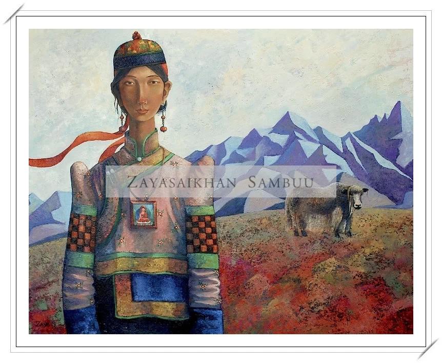 ®◆节日欣赏,画中的女人 — 蒙古画家Zayasaikhan Sambuu的作品 第3张