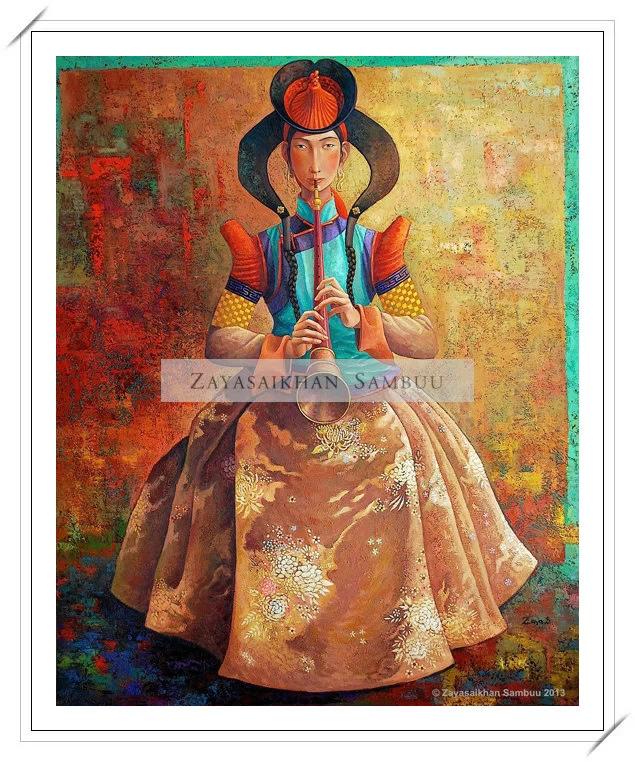 ®◆节日欣赏,画中的女人 — 蒙古画家Zayasaikhan Sambuu的作品 第5张