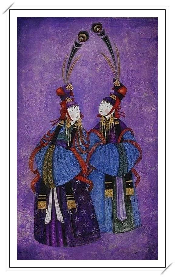 ®◆节日欣赏,画中的女人 — 蒙古画家Zayasaikhan Sambuu的作品 第7张