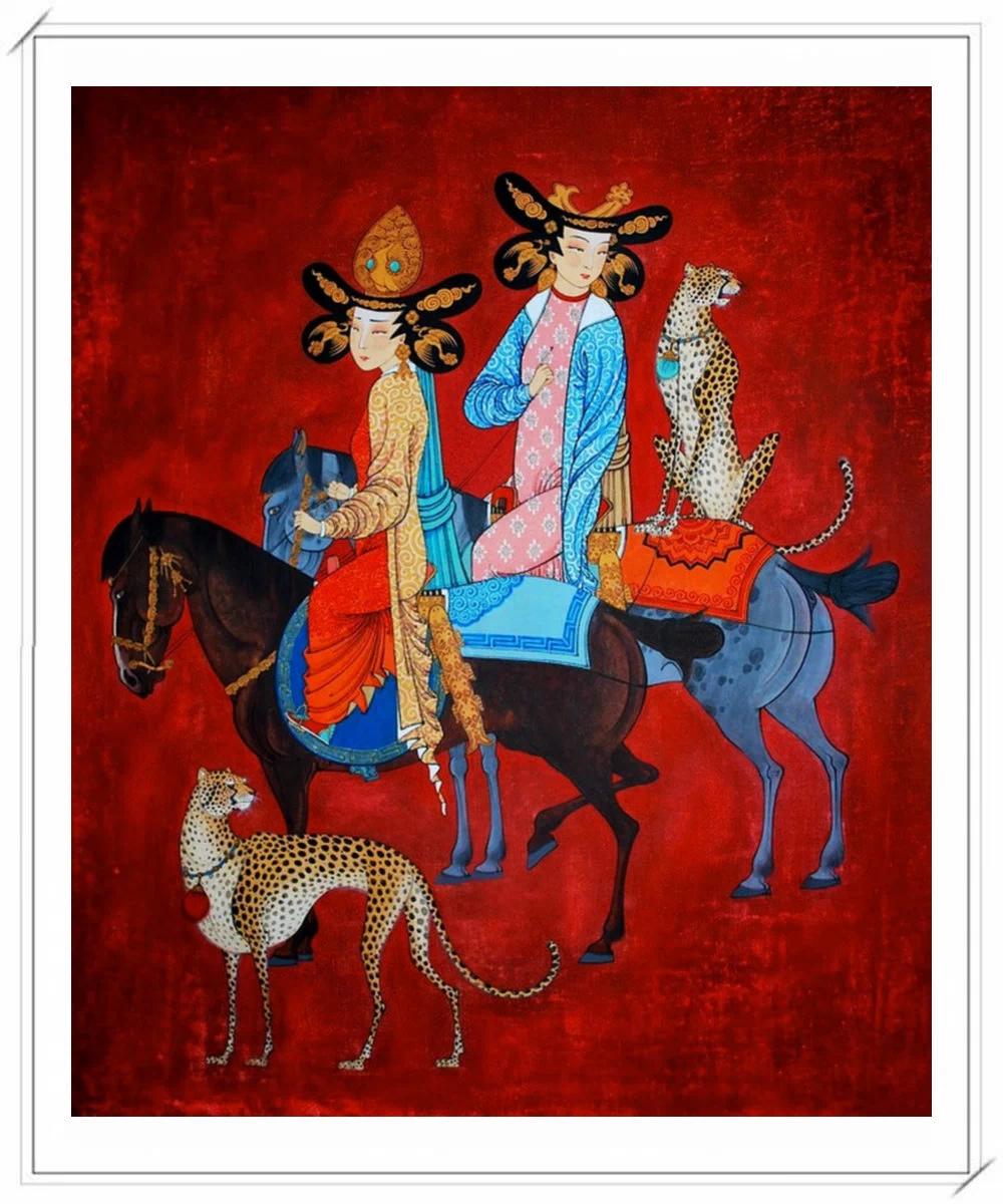 ®◆节日欣赏,画中的女人 — 蒙古画家Zayasaikhan Sambuu的作品 第13张
