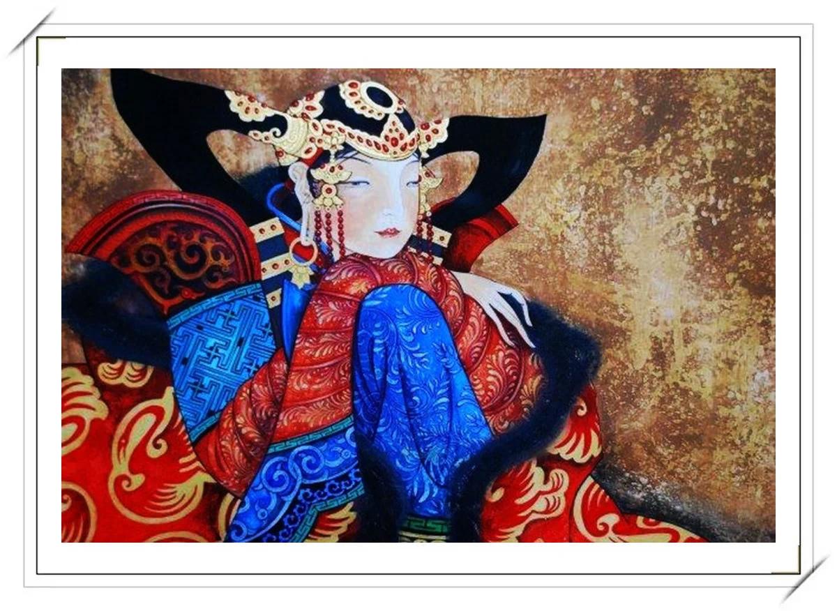 ®◆节日欣赏,画中的女人 — 蒙古画家Zayasaikhan Sambuu的作品 第15张