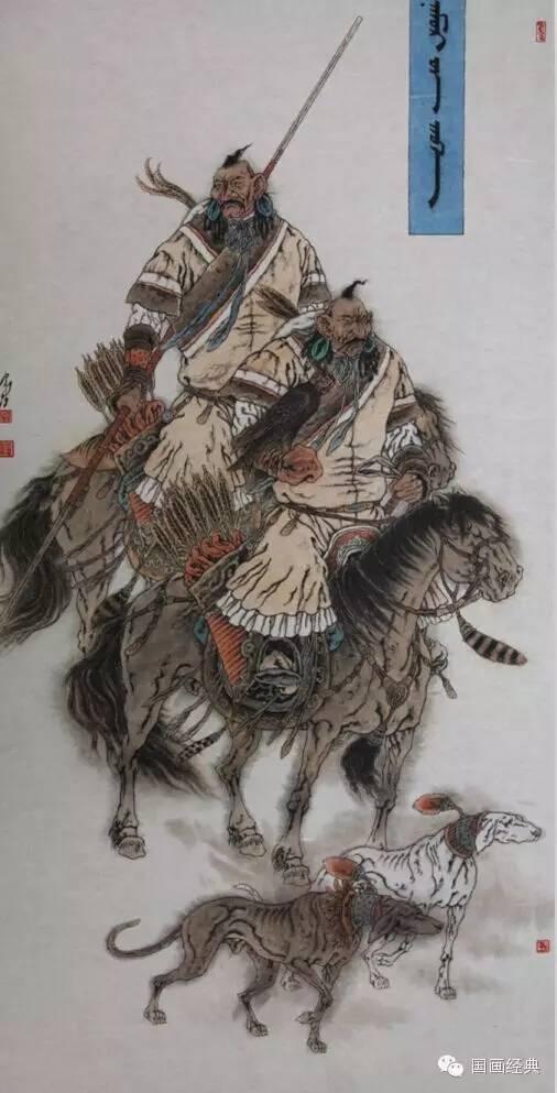蒙古族著名画家白嘎力欣赏,大饱眼福 第7张