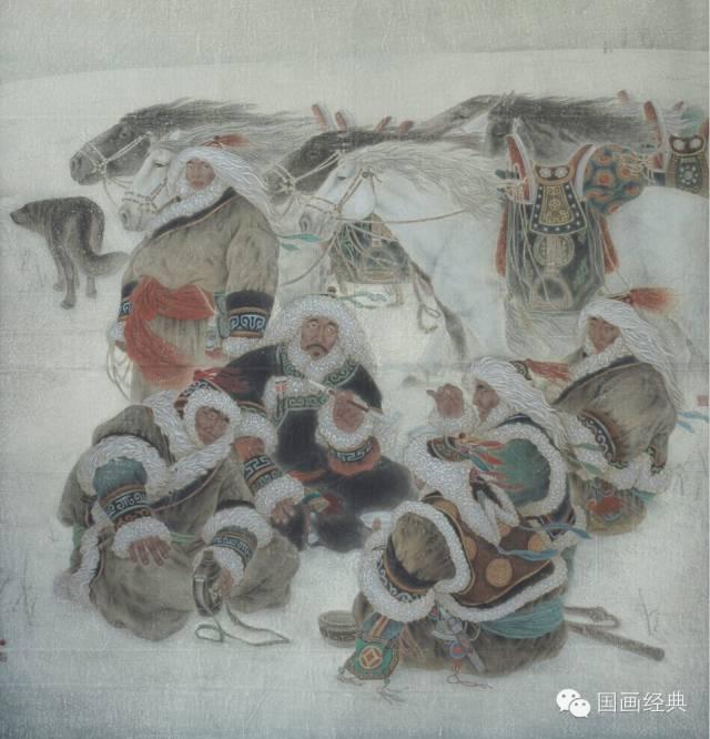 蒙古族著名画家白嘎力欣赏,大饱眼福 第14张