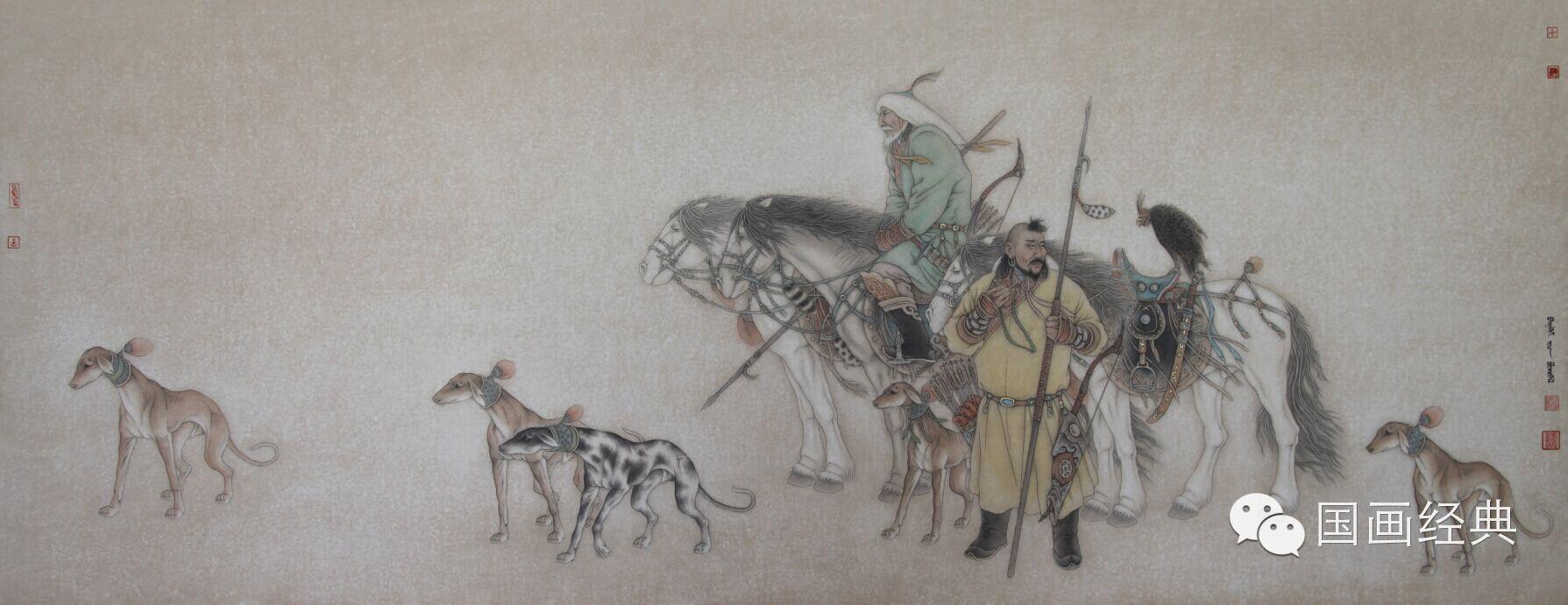 蒙古族著名画家白嘎力欣赏,大饱眼福 第12张