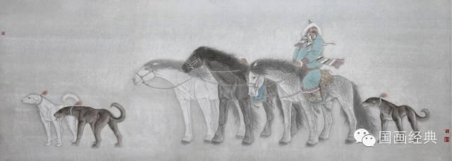 蒙古族著名画家白嘎力欣赏,大饱眼福 第13张