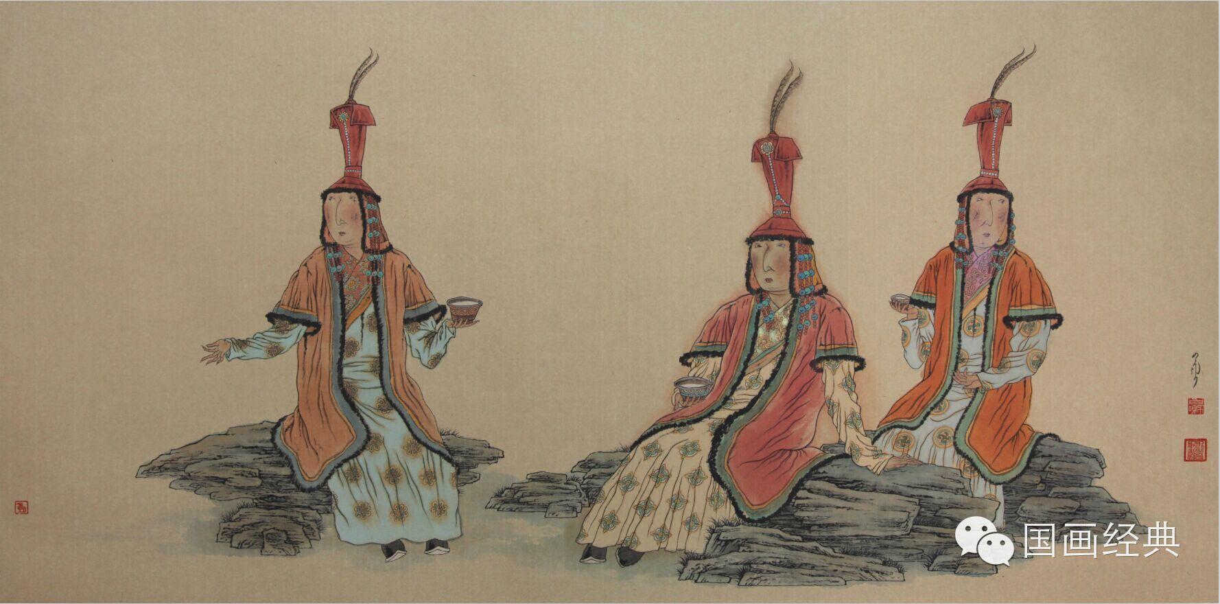 蒙古族著名画家白嘎力欣赏,大饱眼福 第11张