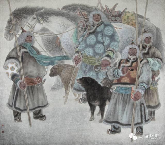 蒙古族著名画家白嘎力欣赏,大饱眼福 第16张