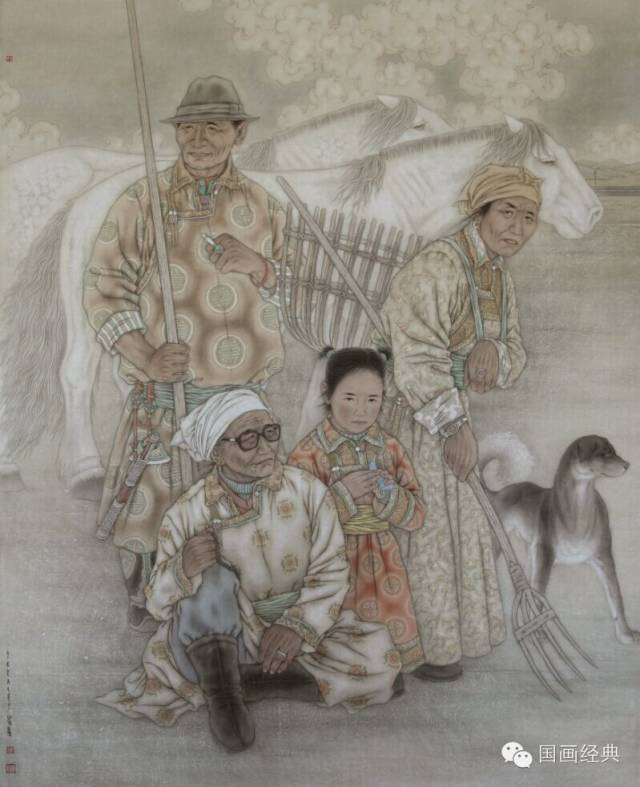 蒙古族著名画家白嘎力欣赏,大饱眼福 第15张