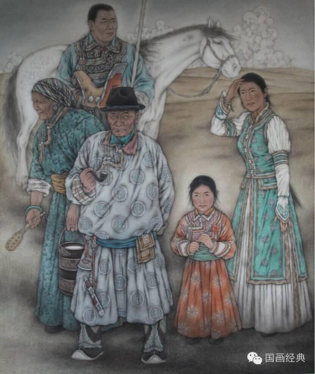 蒙古族著名画家白嘎力欣赏,大饱眼福 第17张