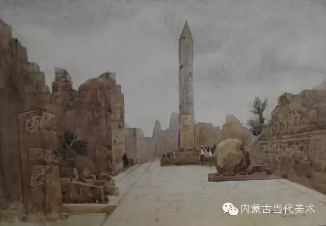 🔴蒙古族画家——那顺孟和境外水彩写生作品 第3张