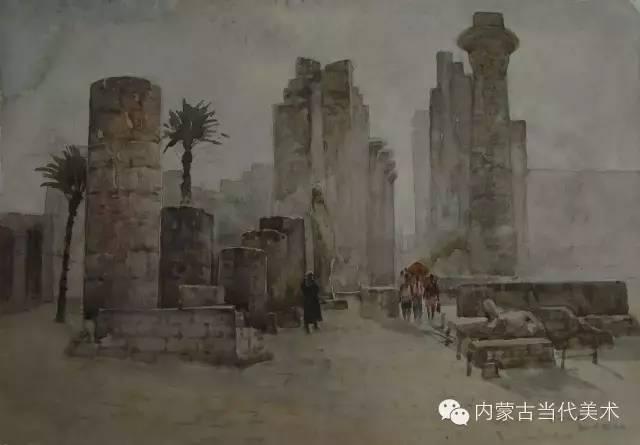 🔴蒙古族画家——那顺孟和境外水彩写生作品 第2张