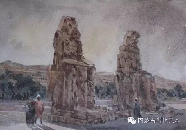 🔴蒙古族画家——那顺孟和境外水彩写生作品 第8张