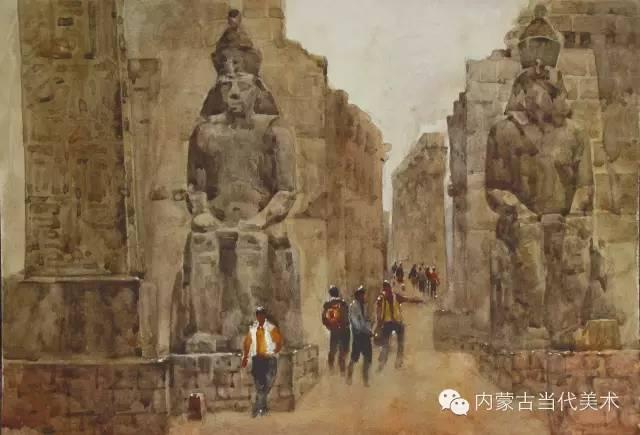 🔴蒙古族画家——那顺孟和境外水彩写生作品 第7张