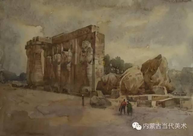 🔴蒙古族画家——那顺孟和境外水彩写生作品 第4张