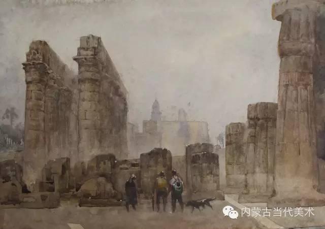 🔴蒙古族画家——那顺孟和境外水彩写生作品 第5张