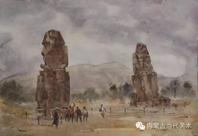 🔴蒙古族画家——那顺孟和境外水彩写生作品 第6张