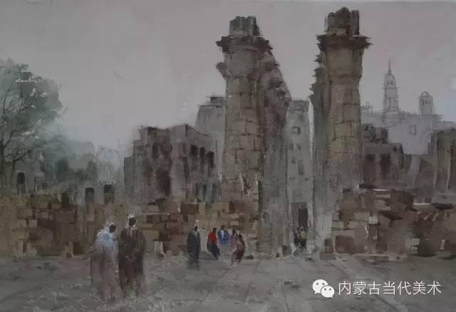 🔴蒙古族画家——那顺孟和境外水彩写生作品 第10张