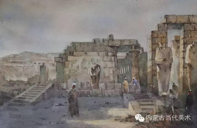 🔴蒙古族画家——那顺孟和境外水彩写生作品 第11张