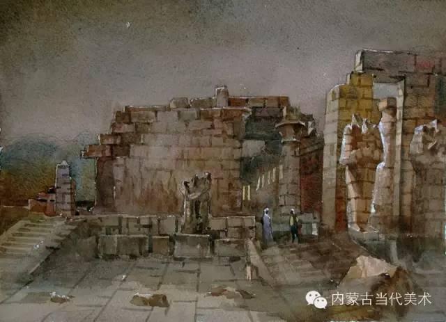 🔴蒙古族画家——那顺孟和境外水彩写生作品 第9张