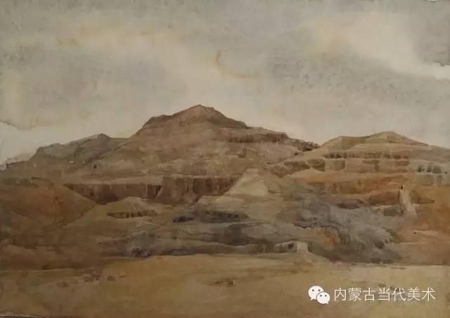 🔴蒙古族画家——那顺孟和境外水彩写生作品 第13张