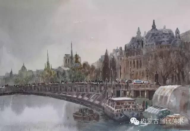 🔴蒙古族画家——那顺孟和境外水彩写生作品 第16张