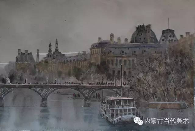 🔴蒙古族画家——那顺孟和境外水彩写生作品 第17张