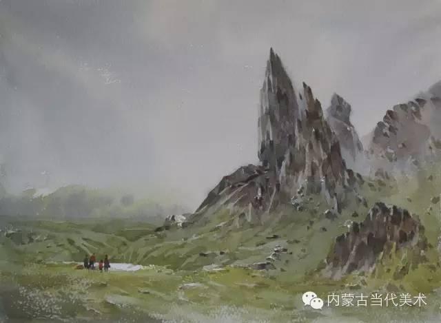 🔴蒙古族画家——那顺孟和境外水彩写生作品 第20张