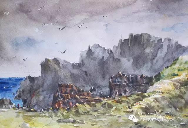 🔴蒙古族画家——那顺孟和境外水彩写生作品 第19张