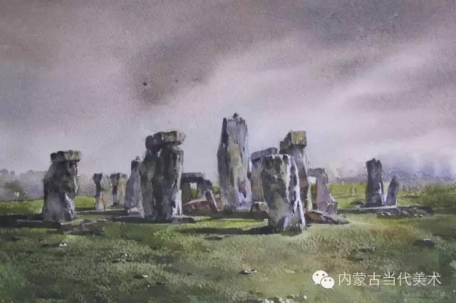 🔴蒙古族画家——那顺孟和境外水彩写生作品 第23张