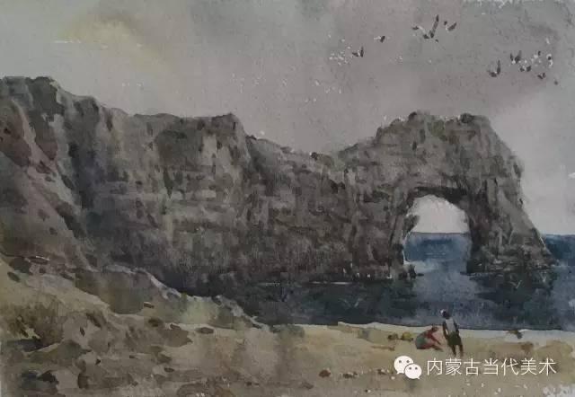 🔴蒙古族画家——那顺孟和境外水彩写生作品 第22张