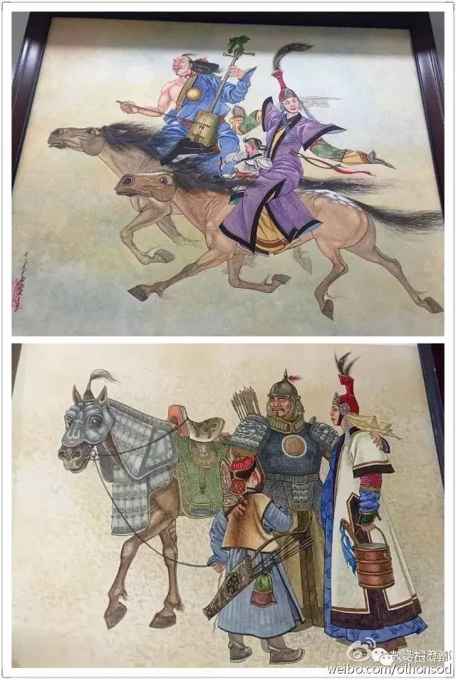 【美图】蒙古画家都仁图古斯作品欣赏 第3张