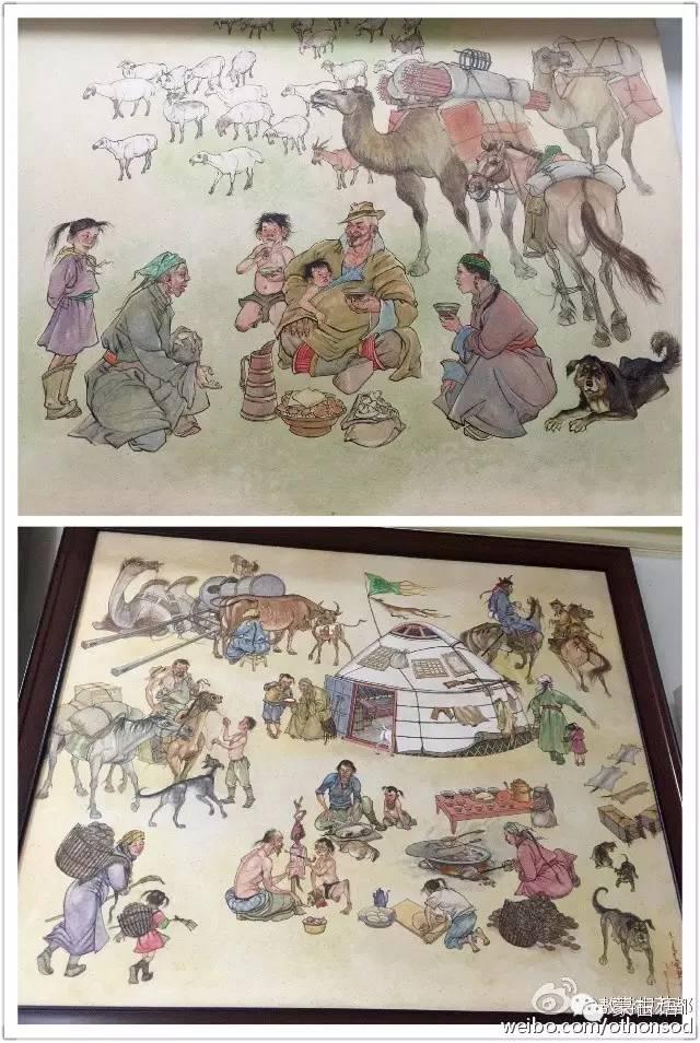 【美图】蒙古画家都仁图古斯作品欣赏 第7张