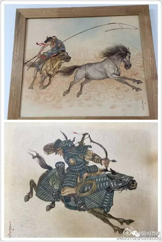 【美图】蒙古画家都仁图古斯作品欣赏 第8张