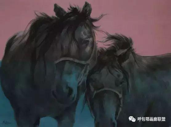 蒙古族画家长海作品 第2张