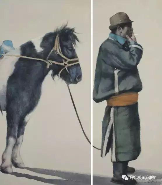 蒙古族画家长海作品 第5张