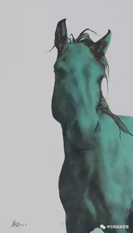 蒙古族画家长海作品 第7张