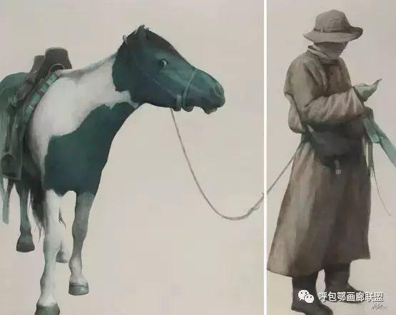 蒙古族画家长海作品 第14张