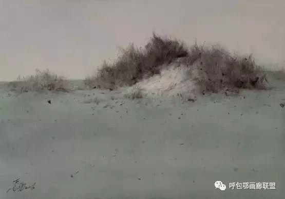 蒙古族画家长海作品 第17张