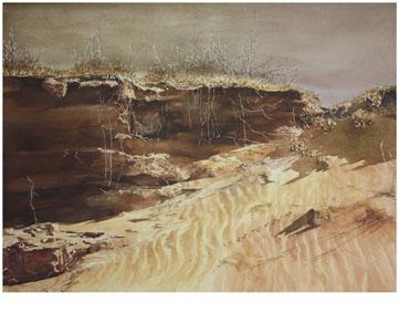 著名蒙古族水彩画家白长青作品欣赏 第1张
