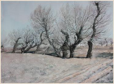 著名蒙古族水彩画家白长青作品欣赏 第2张