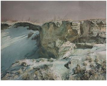 著名蒙古族水彩画家白长青作品欣赏 第4张