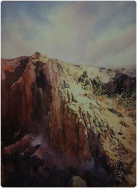 著名蒙古族水彩画家白长青作品欣赏 第5张