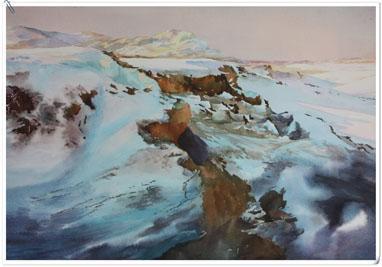著名蒙古族水彩画家白长青作品欣赏 第10张