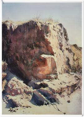 著名蒙古族水彩画家白长青作品欣赏 第7张